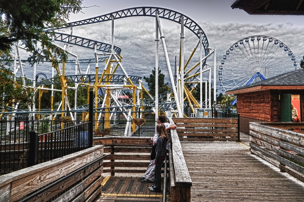 Roller coaster,Darien Lake