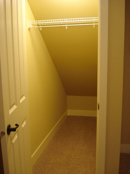 townhouse #1 - this is the closet off of the downstairs bedroom.