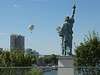 Statue of Liberty and Aerophile captive balloon