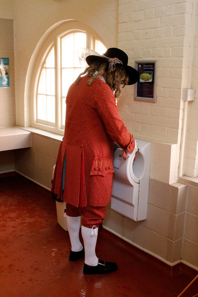 Even Jacobeans should wash and dry their hands!