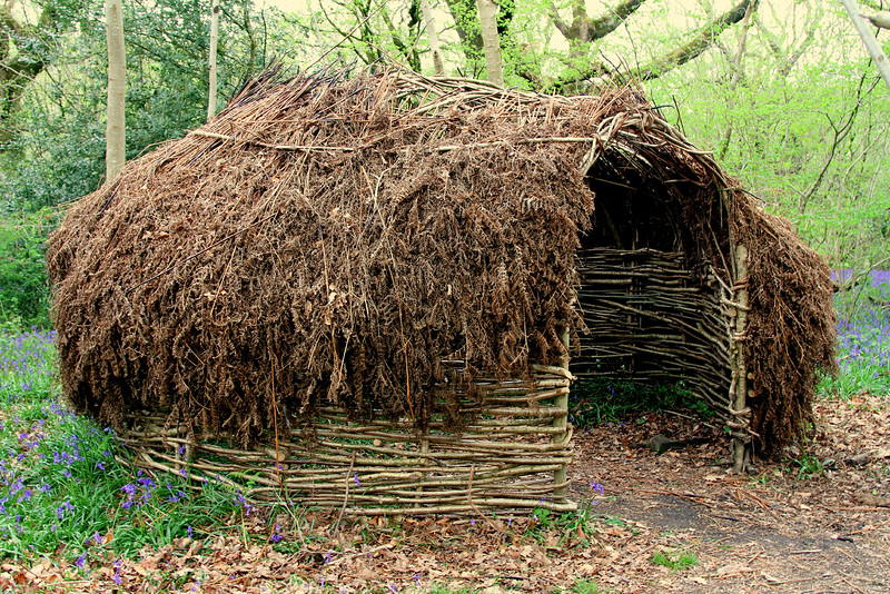 Example of a shelter for when there were charcoal burners