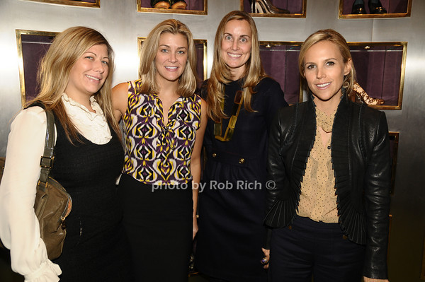 Susie Draper, Miki Berardelli, Kate Macaluso, Tory Burch<br /> photo by Rob Rich © 2009 robwayne1@aol.com 516-676-3939