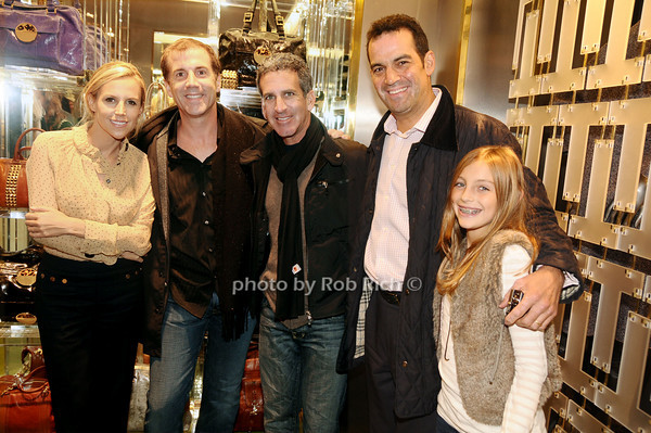 Tory Burch,Mike Westerbeke, Peter Molk, Adam Reiss, Michael Raye Reiss<br /> photo by Rob Rich © 2009 robwayne1@aol.com 516-676-3939