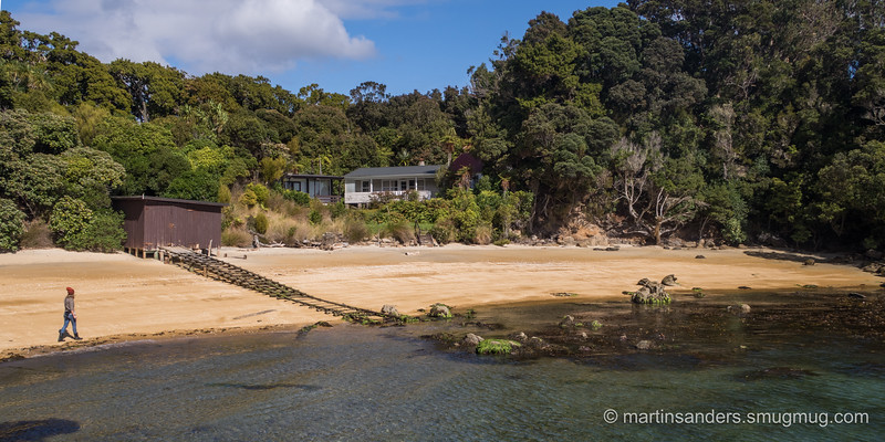 The beach arrival at Ulva island - South island equivilent of Tiritiri Matangi.