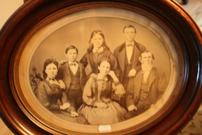 We now have this picture up in our library.  The gal on far left is Jennie, my GREAT grandmother, and Adam & Christi's GG G'ma.  The gal in middle back is Emma, Ruth/Boo (and Mary's) mother and  in front of her is their mother (Mary Joseph Spurgin), so add one great for each of us!