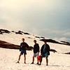 Drei Männer im Schnee...