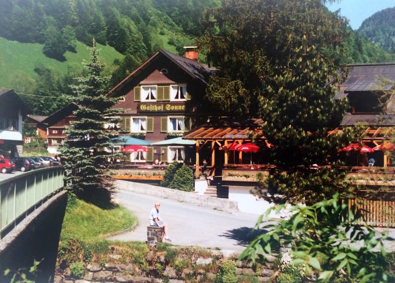 Eind mei 1995 - 5 Dagen Vorarlberg: Gasthof Sonne in Mellau
