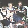 1958 - Ria, Piet en oma, oudejaarsavond '58