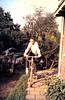 1958 plm. Nieuwe fiets. Links de brommer van buurjongen Bart Wetsema.