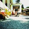 1960 01 Tuin van ons Hotel Jungfraublick in Interlaken