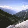 1961 17 Uitzicht tijdens de 3 passentocht: Grimsel - Furka - Susten pas.