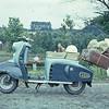 De scooter van Ton .