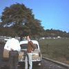 1968. Heenreis naar Idar. Joost Cornet en George Vrugt langs de autobahn