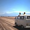 Op een zoutvlakte in Amboseli.