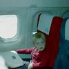 Michel voor het eerst in een vliegtuig!!