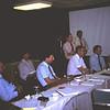 1985 03 Links Mogens Friis (SK), daarnaast Heinrich Schluter (LH) en Fred Vroomans daarachter.