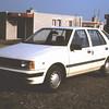 1986 15 Met onze nieuwe Hyundai Pony naar een bungalowtje in de Peel.