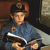 1986 05 Michel in de trein. Weer eens wat anders.