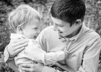 Brothers Playing cropped bw (1 of 1)