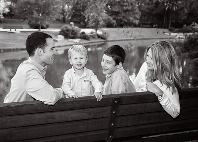 Laughing on Bench bw (1 of 1)