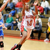 Anderson's Na-Shaunda Rayford drives for a layup as the Indians hosted the Bishop Chatard Trojans on Saturday.