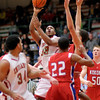 Anderson's Trey Boyd shoots as the Indians hosted the Kokomo Wildkats on Friday.