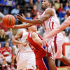 Anderson's Jalin Beard drives to the basket as the Indians hosted the Kokomo Wildkats on Friday.