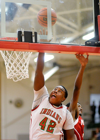 Anderson's Tim Boyd shoots a layup as the Indians hosted Indianapolis Manual on Saturday.