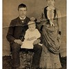 "Written on back of original photo :: """"Andrew N.   &   Anna M.   &   Albin""""<br /> <br /> - This is Fred's mother, father and brother.  And thus, Stan, Spencer and Jeanne's grandmother, grandfather and uncle.<br /> <br /> - - Anna Margaret Johnson Anderson lived from 1869 to 1943."