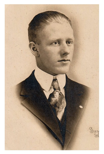 """Sanderson Studio"", stamped on photo.<br /> - Who is this?<br /> - - This photo from Jeanne and Larry's collection in an envelope marked, ""Anderson Pictures""."