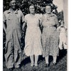 Fred and Mabel with Mabel's mother, Marie Fredine.<br /> - And maybe Jeanne in the background at far right?