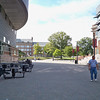 This is a view toward the front of campus from the student center.