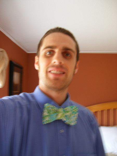Andrew w/ bow tie... this might have been the best one I tied all morning; it took me about an hour and a half to learn to tie it using youtube videos