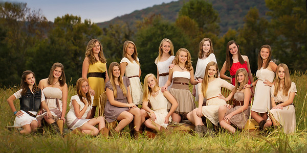 Angie 8th grader group shot