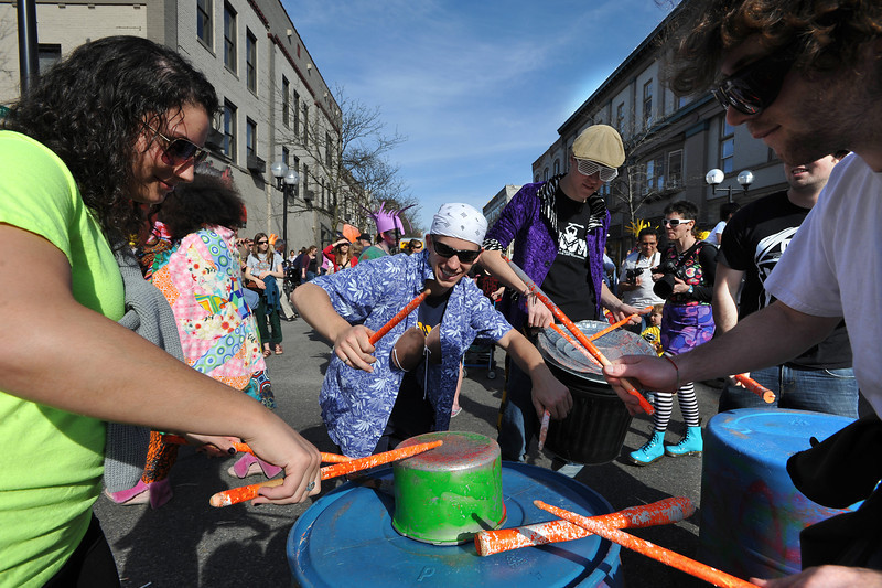 Festifools parade.  (Photo by Mark Bialek)