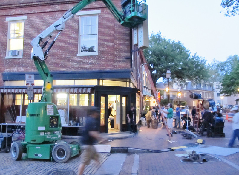 Movie being filmed in Annapolis, May 2012, Living Better with Chemistry Copyright Sue Steinbrook