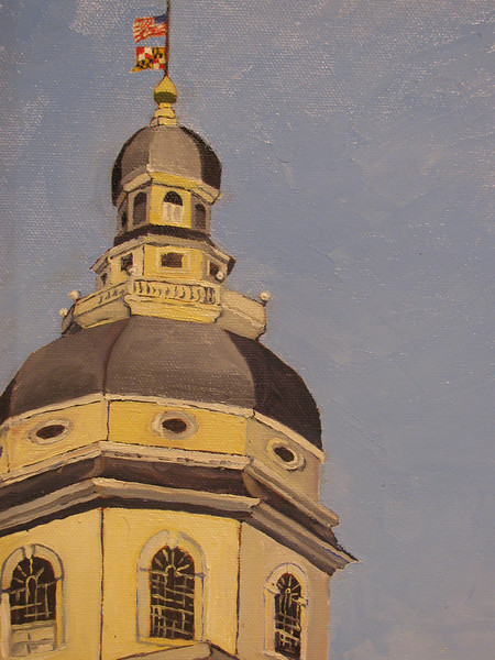 Painting of the US Capitol at Paint Annapolis Copyright Sue Steinbrook