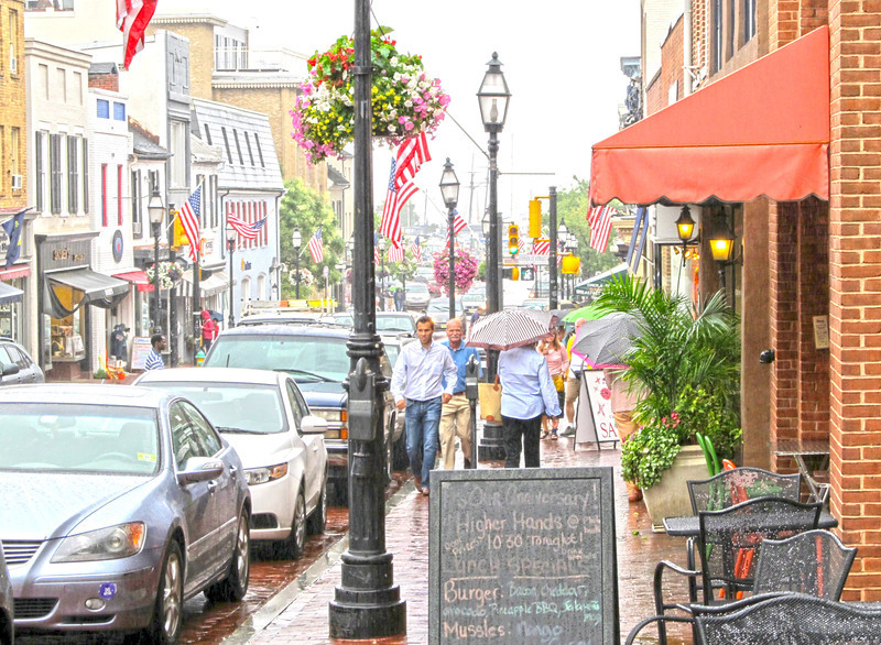 July Rain Downtown Annapolis 2012 Copyright Sue Steinbrook