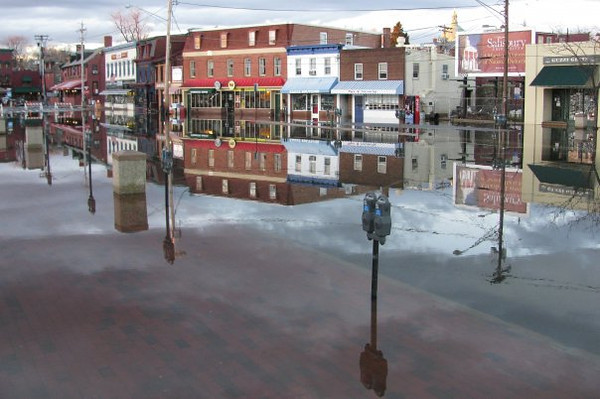 One of the many floods by the city dock. Around 2009 or 2010?Copyright Sue Steinbrook
