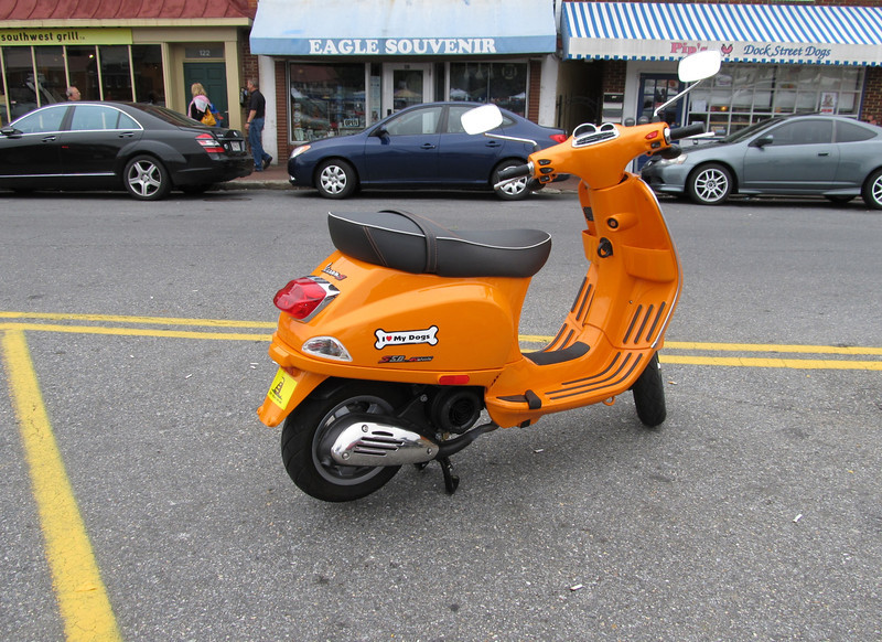 Just one of the many scooters in Annapolis aka Naptown