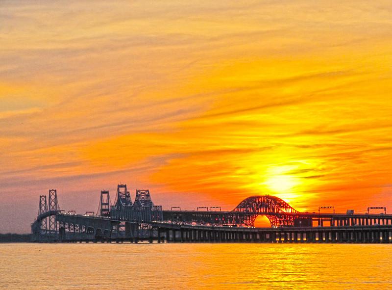 Bay Bridge Sunset May 2012Copyright Sue Steinbrook