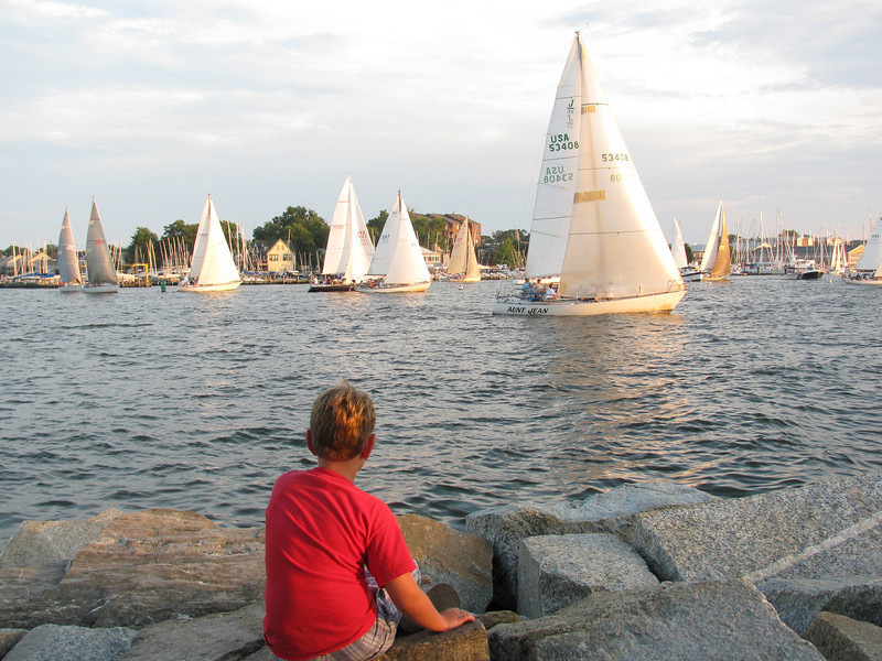 Wednesday Night Boat races 2009 Copyright Sue Steinbrook