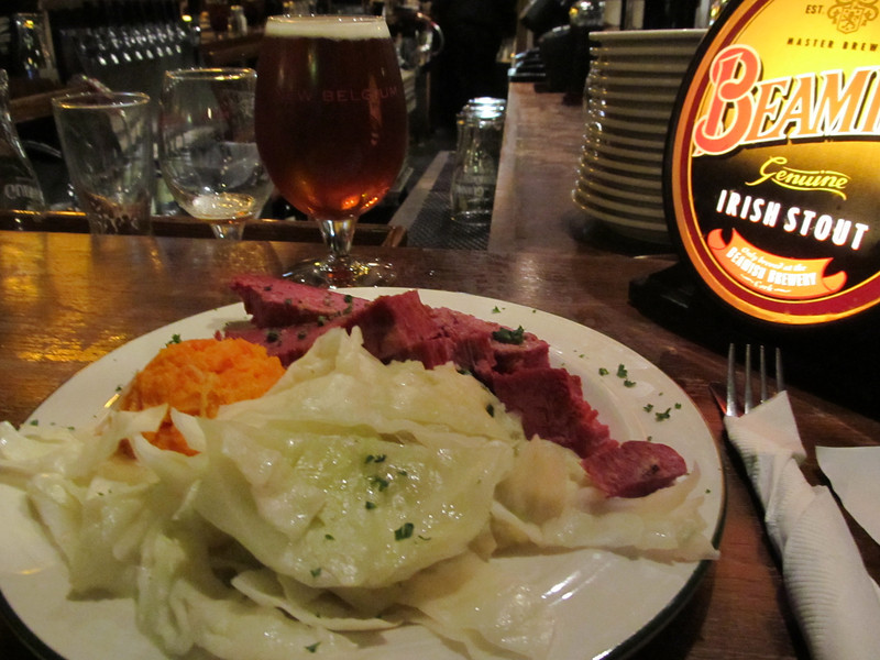 Galaway Bay's very good corn beef and cabbage.May 2012 Copyright Sue Steinbrook