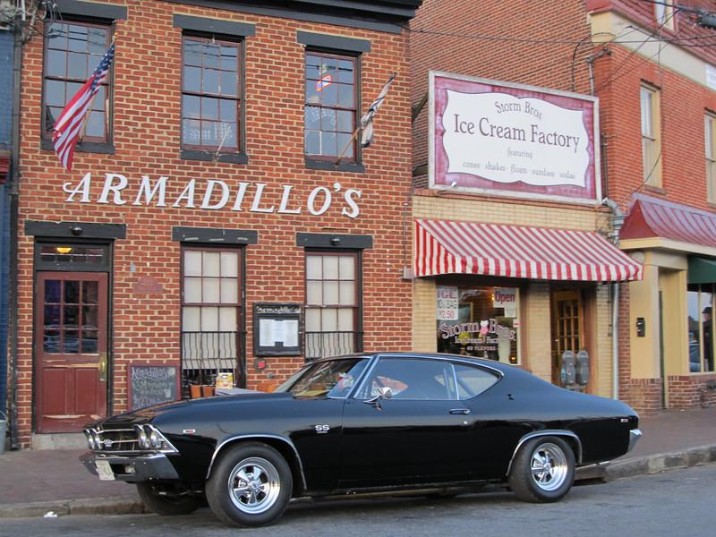 2 classics! Ice Cream and fast cars! Copyright Sue Steinbrook
