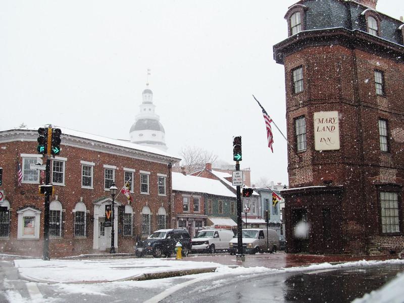 Church Circle gets SNOW