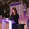 Melissa Mize of Key Personnel presents the Ernie McAnaw Award