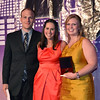 Bryan Ford of Bartlett & West with YPB outgoing president Lindsey Pickering and Rising Star Award winner Courtney Soland