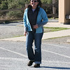 Testing my big lens by doing a paparazzi of Christina in the parking lot.