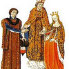 Fulk V, King of Jerusalem, my 30th great grandfather (maternal).<br /> <br /> Fulk (in French: Foulque or Foulques; 1089/1092 Angers – 13 November 1143 Acre), also known as Fulk the Younger, was Count of Anjou (as Fulk V) from 1109 to 1129, and King of Jerusalem from 1131 to his death. He was also the paternal grandfather of Henry II of England.  Fulk was born in Angers between 1089 and 1092, the son of Count Fulk IV of Anjou and Bertrade de Montfort. In 1092, Bertrade deserted her husband and bigamously married King Philip I of France.<br /> <br /> He became count of Anjou upon his father's death in 1109. In the next year, he married Erembourg of Maine, cementing Angevin control over the County of Maine.  He was originally an opponent of King Henry I of England and a supporter of King Louis VI of France, but in 1118 or 1119 he had allied with Henry when Henry arranged for his son and heir William Adelin to marry Fulk's daughter Matilda. Fulk went on crusade in 1119 or 1120, and became attached to the Knights Templar. (Orderic Vitalis) He returned, late in 1121, after which he began to subsidize the Templars, maintaining two knights in the Holy Land for a year. Much later, Henry arranged for his daughter Matilda to marry Fulk's son Geoffrey of Anjou, which she did in 1127 or 1128.