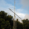 Pointed east, southeast towards Oahu, Maui and the Big Island. Reception of the Maui FM stations (200 miles east) is much better now, and reception of the Kailua-Kona FM stations (300 miles away) is now dependable.